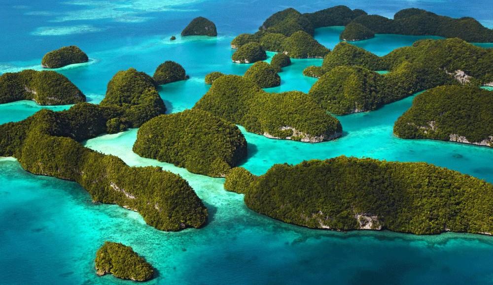 Rocks Islands, Palau, vistas desde el aire