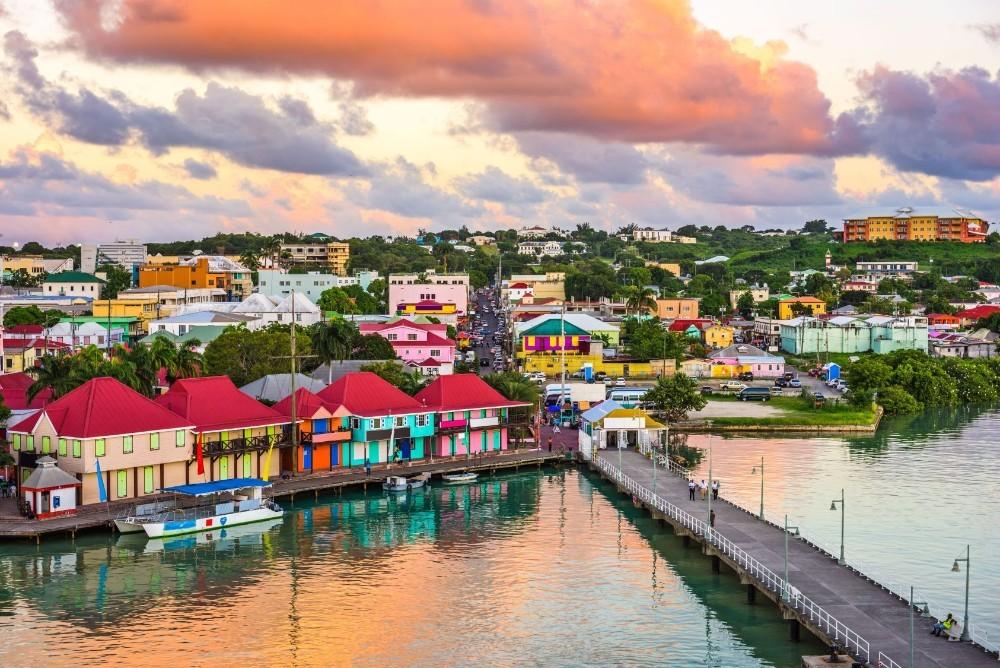 Antigua y Barbuda desde el aire