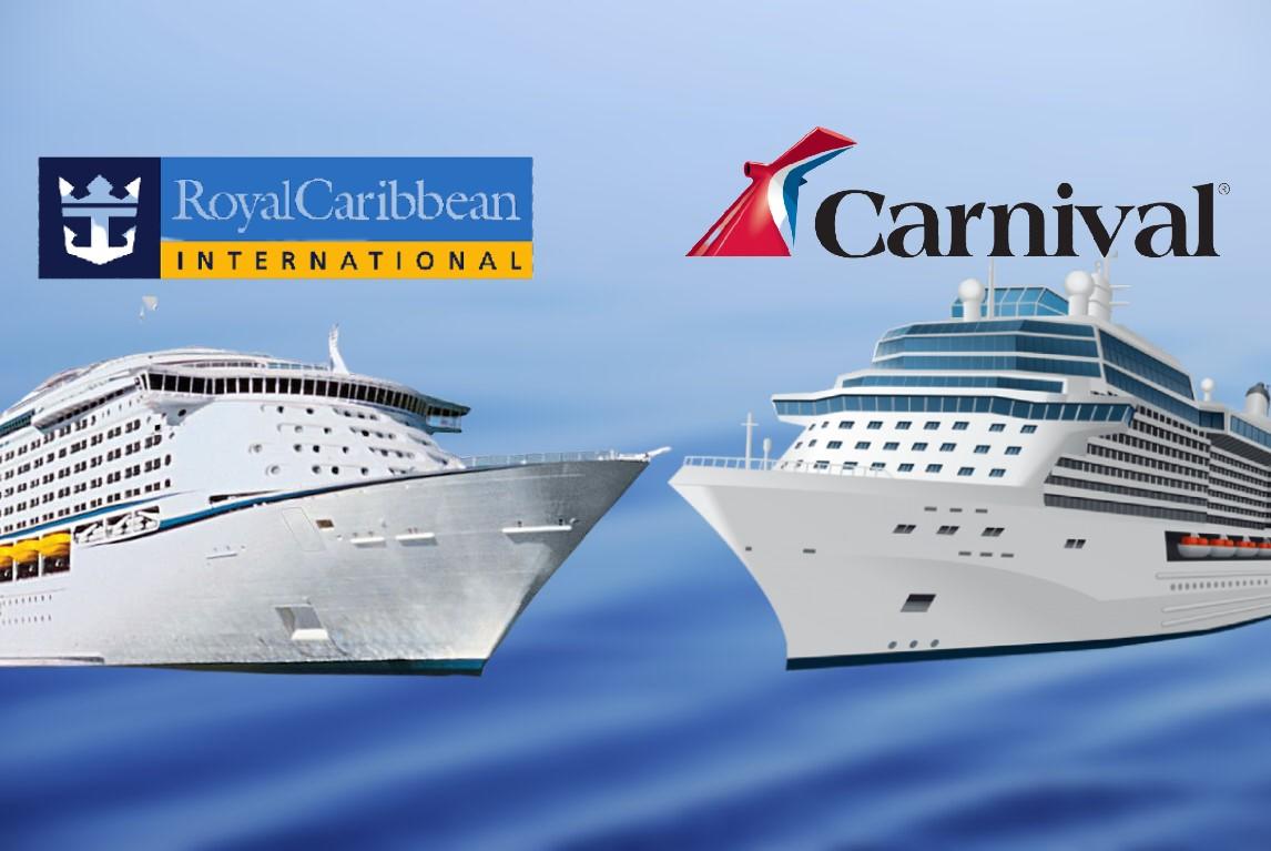 Carnival y Royal Caribbean frente a frente, sus logos