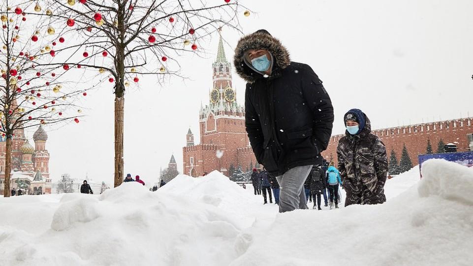 Moscú bajo nieve