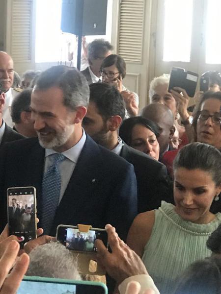 Reyes de España con empresarios españoles en Cuba